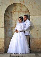 Novios Newlyweds Oaxaca Mexico (Ilhuicamina) Tags: oaxaca mexican people novia brides weddings bodas mexicanos iglesia church