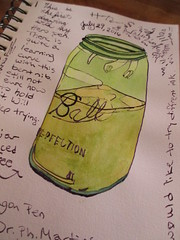 drink my coffee from a ball jar (terryhadalittlelamb) Tags: drawing painting hero bent nib fountain pen watercolor columbus ohio oh