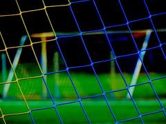 Football Goal Net*Olympic Ring Colors (BrigitteE1) Tags: macromondays summerolympicsports rio2016 hmm footballgoal olympicringcolors fusballtor netz sport blue yellow black green red fusballtornetz soccergoalnet soccergoal