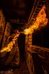Stitch farfadet piratak (ohdrey Pom's) Tags: nightphotography light urban night painting fun fire photography dragon lol fires avignon fireshow feu fou drago poms urbex lightart abandonn paintwithlight dlire cracheurdefeu cracheur firebreath