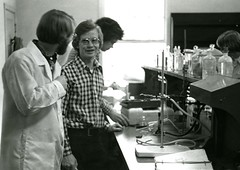 A conversation in the lab (PUC Special Collections) Tags: laboratory lab pacificunioncollege chemistrydepartment chemistrylab chemistry beakers test tubes scientist labcoat experiments angwin california adventist sda seventhdayadventist college