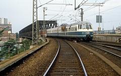 456 106 + 403  Mannheim  13.07.86 (w. + h. brutzer) Tags: analog train germany deutschland nikon eisenbahn railway zug trains db mannheim 456 eisenbahnen triebwagen triebzug et56 triebzge webru