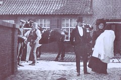My father comes home (brightasafig) Tags: horse baby hat groom belgium grandmother father grandfather christening