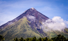 Mayon Volcano, Philippines (ravi_pardesi) Tags: cloud mountain clouds landscape volcano amazing outdoor awesome philippines bluesky mayon formations awesomeness igneous