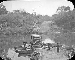 K114Rj Crossing a river on a four-canoe jangada (PaulBlake1957) Tags: angola methodist travel river rivercrossing jangada ferry raft dugoutcanoe