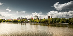 Kremlin in Ilmailovo (Konstantin Agaltsov) Tags: cityscape city clouds cloud church cloudscape color architecture country russia river green travel grass tourism trees tree street outdoor landscape park panoramic panorama samyang sky sunset sun summer nikon wideangle digital d200