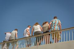 railing (stevefge) Tags: people nijmegen nederland netherlands girls candid vierdaagse summer zomer watchers nederlandvandaag reflectyourworld