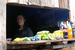 Yumthang Valley - Lady at the roadside shop (pallab seth) Tags: yumthang valley river people portrait woman sikkim india shingbarhododendronsanctuary mountain himalayas