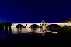 le Pont d'Avignon IMG_2432 (Ludo_M) Tags: avignon france europe europa vaucluse paca provence night nuit notte noche nacht longexposure poselongue pose heurebleue bluehour wideangle grandangle rhone rhne river fleuve ef1635mmf4lisusm canon eos 6d canoneos6d city town ville stadt worldheritagesite unesco southoffrance pontdavignon pont bridge