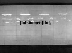 Black and White Berlin (Per Olof Forsberg) Tags: berlin potsdamer platz subway underground ubahn tunnelbana station metro