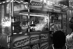 Street Food (kogh65) Tags: new york photography photo travel art 2016 nyc ny street black white leica m mono tone city outdoor life people depth field reportage young kogh candid camera focus pov picture 50mm image manhattan artist kogh65 food hot dog smoke