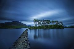 Derryclare Lough, Connemara (Minibert93) Tags: water lake longexposure sky trees connemara cogalway stone landscape mountains