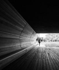 in vitra 6 (Magdalena Roeseler) Tags: street strassenfotografie sw scene streetphotography bwswblackwhiteschwarzweissmonochromestreetcandid candid people lines geometry pattern architecture monochrome