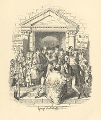 """""""Election for Beadle"""" (Rescued by Rover) Tags: george cruikshank charles dickens sketches boz beadle victorian election"""