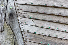 This Corrosion (framboise_sjb) Tags: 2016 dungeness dungenessbeach february kent corrosion planking derelict abandoned nails green
