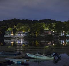 River Life ( estatik ) Tags: river life delaware shore boats night long exposure lambertville nj new jersey hunterdon county newhope pa pennsylvania bucks reflection dock south summer 2016