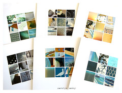 colours of St. Ives (Carolyn Saxby) Tags: squares grids mosaics artcards colours stives cornwall yellow blue aqua turquoise ochre gold orange blackandwhite carolynsaxby