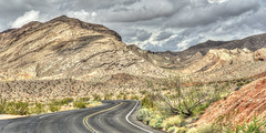 Winding Road (magnetic_red) Tags: road curve winding scenic drive storm clouds mountains nevada americanwest sky dramatic open landscape