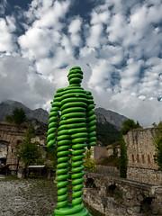 SPLINSON's Pixelwurst (spline_splinson) Tags: fortealbertino fortealbertinodivinadio art europe fortalbertino greenart greenman italien italy sculpture vinadio piemonte it