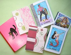 Notepad with playing card (irecyclart) Tags: notebook playingcard