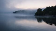 Stillness (helena678) Tags: morning mist misty fog water lake dawn trees light autumn fall september sweden scandinavia