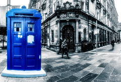 Tardis (ianmiddleton1) Tags: glasgow tardis drwho hdr buchananstreet policebox hss sliderssunday