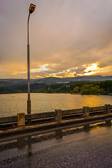 Who loves the sun (dimitrisrentis) Tags: hellas veroia river aliakmonas green tree sky sun sunset colour colourful clouds outdoor landscape light nature nikon d5200 beauty brigde road water mountain makedonia rainy lake macedoniagreece timeless macedonian