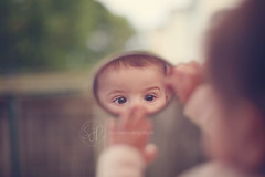 I have found myself (Serena178) Tags: baby reflection cute mirror eyes bokeh tiny odc ilovemyself