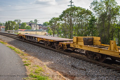NS 12R Northbound in Orange, VA on my 30th birthday.  Beautiful 5 unit consist including an SD40-3 from ICE and a CP ES44AC.  If only they were leading ;-) (bdunn829) Tags: railroad orange ns trains norfolksouthern rollingstock railfanning orangeva flatcars ns12r heavyweighflatcar