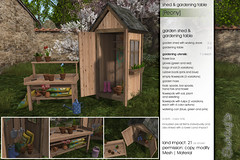 Sway's [Peony] Garden Shed & Gardening Table | The Home Show (Sway Dench / Sway's) Tags: flower home garden table tulips gardening outdoor shed flowerpot thehomeshow sways