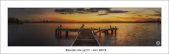 Squids Ink Jetty - May 2015 (John_Armytage) Tags: sunset panorama newcastle focus dusk belmont pano jetty panoramic stormdamage tiltshift squidsink focusaustralia canon24mmtseii johnarmytage sonya7r