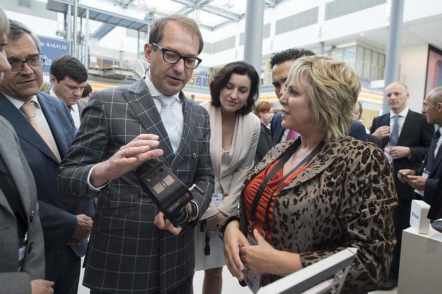 Alexander Dobrindt with Helen Fisk