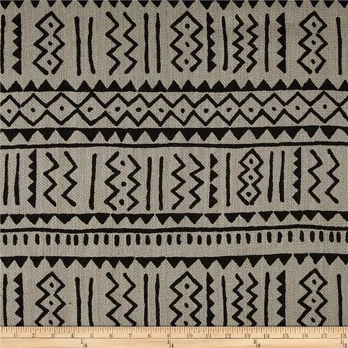 Sultana Burlap Batik Grey