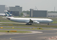 B-HXL A340-300 Cathay Pacific (JaffaPix +5 million views-thanks...) Tags: airplane airport aircraft aviation cx aeroplane airline airbus schipol ams airliner a340 340 cathaypacific eham cpa 25may05 a340300 a343 amsterdamairport bhxl jaffapix davejefferys