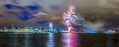 20150525-L,pool-2_Panorama1.jpg (davenewby123) Tags: england sky seascape fireworks unitedkingdom outdoor nighttime queenvictoria queenelizabeth rivermersey liverpoolwaterfront theredarrows canon6d queenmery2 threequeensliverpool threequeesliverpool2015 sigma24105a