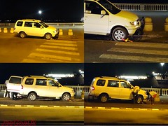 Wheel clamped tyre changed (joegoaukextra3) Tags: traffic goa violation ccp clamping joegoauk