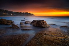 Kissed By Light (Noval N | Photography) Tags: sky seascape rock sunrise landscape dawn sydney australia