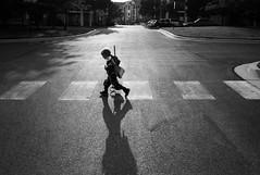Knight Crossing (ShutterTwinz) Tags: leica light bw monochrome contrast photography photo child grain summicron m8