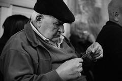 Esperando / Wainting (marinpaulanicole) Tags: men argentina blackwhite waiting time grandfather oldmen