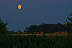Hay Moon (ramseybuckeye) Tags: july 2016 full moon night buck hay pentax life art ohio auglaize county rural farm farming agriculture breath taking landscapes