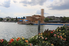 Zrich (Explore) (William Sc) Tags: zrichsee zurich lake summer flowers city tram water building manifesta pavillonofreflections