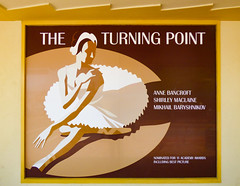The Turning Point (Steve Taylor (Photography)) Tags: turningpoint annebancroft shirleymaclaine mikhailbaryshnikov ballerina ballet tutu sitting state cinema nominatedfor11academyawardsincludiingbestpicture art poster brown monocolor monocolour white woman lady newzealand nz southisland shadow dancer