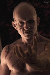 Frankenstein (tim_asato) Tags: light portrait hot sexy male jock pecs monster sex scary model masculine muscle retrato makeup handsome hunk modelo creepy trunk guapo abs calvo scars bold monstruo maquillaje masculino musculo pectorales cicatrices frankenstain timasato lorealonso beautifullmag evgenykhovrin