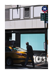 Across 14 St (icypics) Tags: newyork silhouette america cab taxi shapes streetphotography