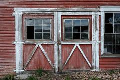Doors (NW Vagabond) Tags: doors red abandoned old broken oregon highway