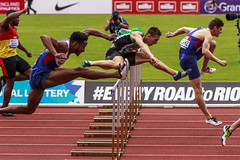 110 hurdles final2 (stevennokes) Tags: woman field athletics birmingham track meadows running smith mens british hudson sainsburys asher muir hurdles rooney 100m 200m sprinter 400m 800m 5000m 1500m mccolgan twell