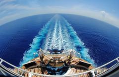 Blue Planet (Infinity & Beyond Photography) Tags: royalcaribbean allureoftheseas cruise ship cruising caribbean sea ocean liner water blue planet wake foam waves stern fisheye horizon