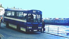 Slide 066-69 (Steve Guess) Tags: bluecream bus mousehole newlyn cornwall penzance england gb uk krl444w harvey bristol lh lhs wadham stringer vanguard