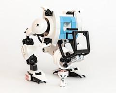 Fluff's Kitty Walker (Galaktek) Tags: friends pets white lego galaktek