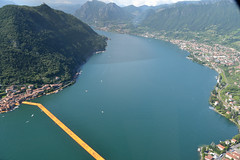 The floating piers (nani86) Tags: floating piers iseo italy art travel elicopter nikon photo italianphotographer lake christo view fly landscape